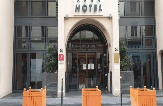 Un hôtel vidé près de l'Opéra de Paris